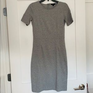 J. Crew Dresses - J Crew Size 2T Grey Cotton Sheath Dress